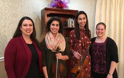 Birmingham High School Student Brings String Music to Seniors at Morning Pointe