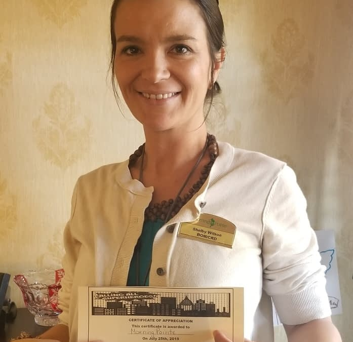 Morning Pointe Business Office Manager Recognized for Work with Local Meals on Wheels Program