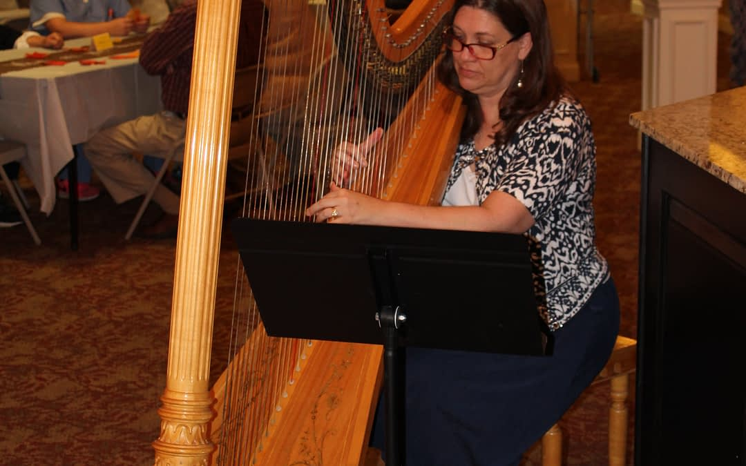 Harpist Pulls Heartstrings at Morning Pointe