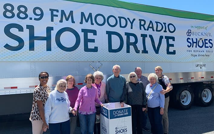 Morning Pointe Residents Participate in Buckner International Shoe Drive