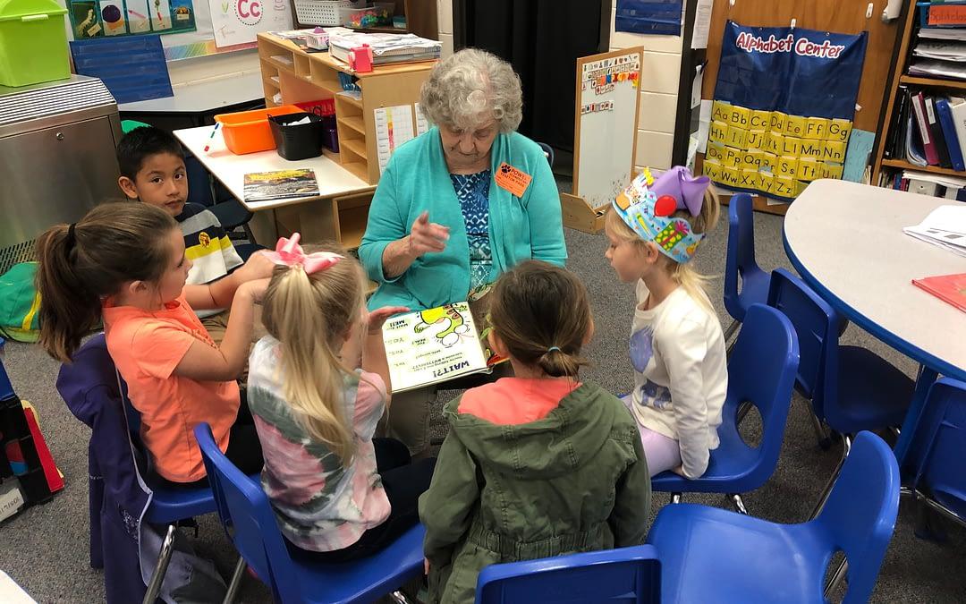 Reading to Kindergarteners