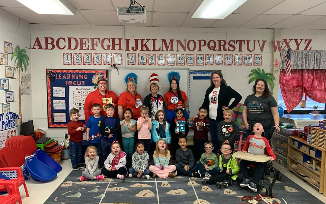 Morning Pointe Celebrates Dr. Seuss's Birthday with Eaton Pre-K Class