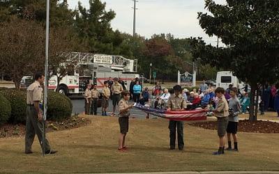 Morning Pointe Veterans Honored During Flag Retirement Ceremony