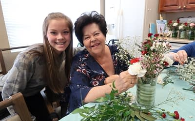 "Morning Pointe ""Flower Girls"" Share Their Passion for Flower Arranging"