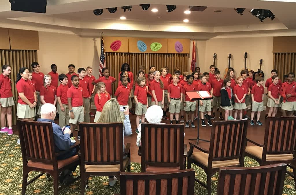 Promises Elementary Students Sing Springtime Songs at Morning Pointe