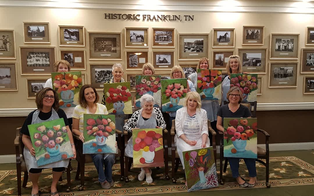 Local Painter Shares Her Passion at Morning Pointe