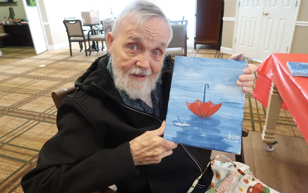 Weekly Painting Classes Allow Morning Pointe Residents to Unwind