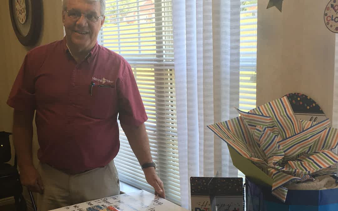 Doug Burrell, Maintenance Director at Morning Pointe of Athens, retired on June 30, after more than nine years at the assisted living community.