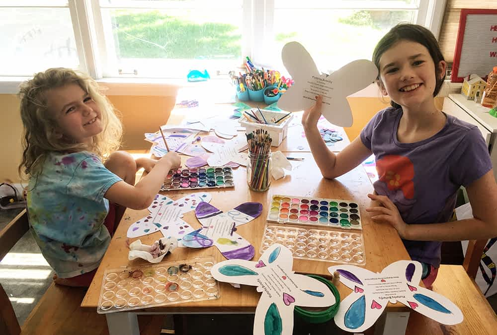 Local Students Gift 80 Handmade Door-Hangers to Morning Pointe