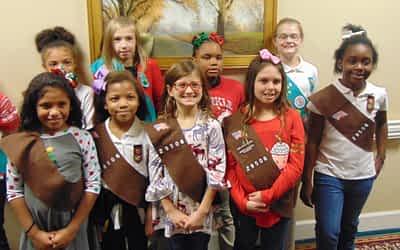 Girl Scout Troop 295 Volunteer at Morning Pointe