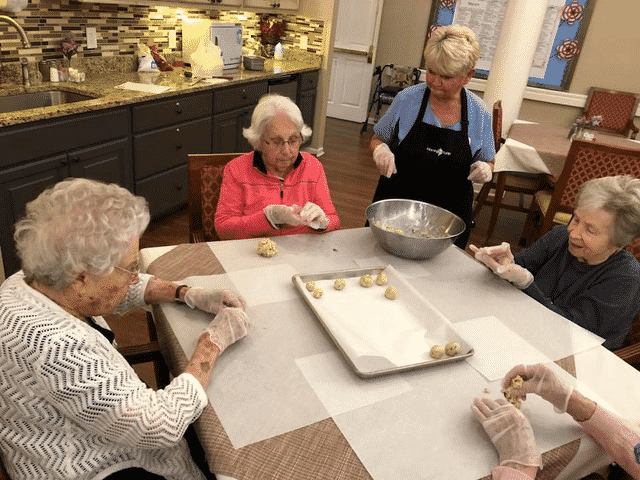 Morning Pointe Residents Bake Classic Cookie Recipes