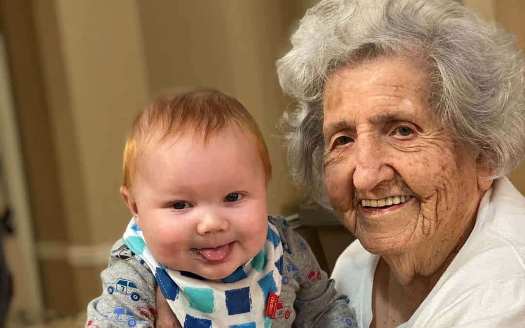 Young Visitor Warms the Hearts of Morning Pointe Residents