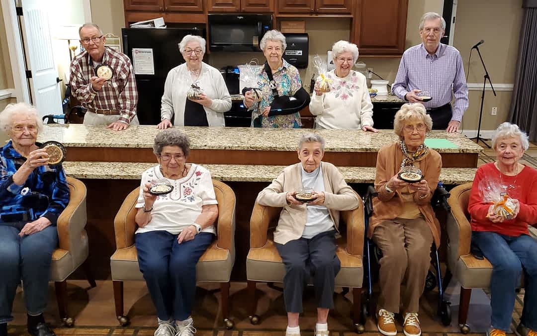 Morning Pointe Residents Celebrate Pi Day with a Pie Walk