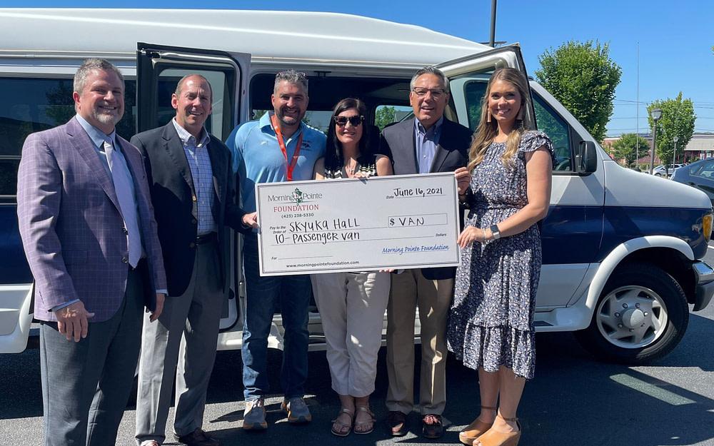 Morning Pointe Donates Van to Skyuka Hall Students After School Vandalized