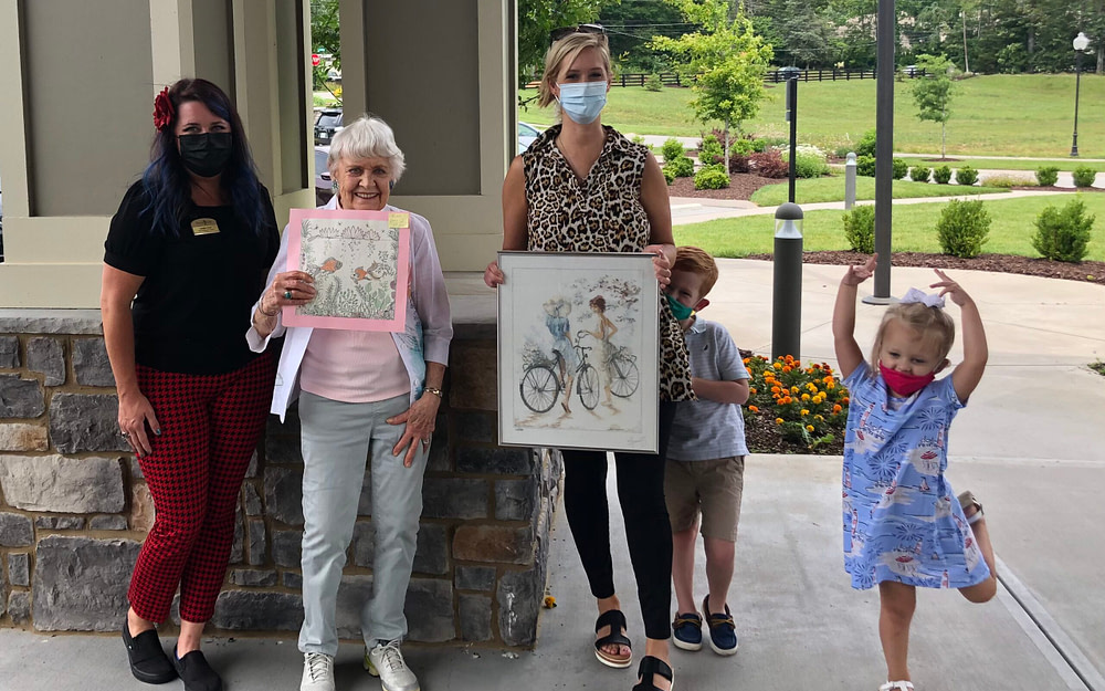 Morning Pointe of East Hamilton Residents Win Art Contest In Partnership With Valamont Club, Rossville Elementary Students