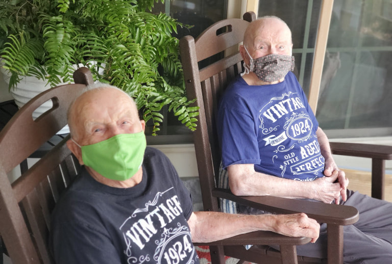 Morning Pointe Residents, Twins Celebrated with Parade on 96th Birthday