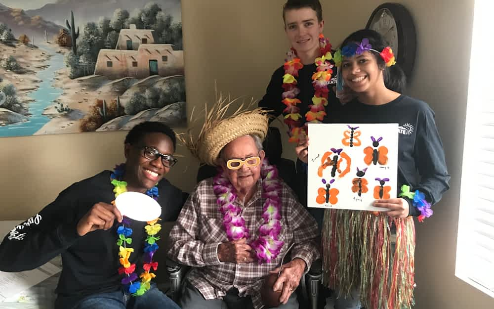 GCA Students Throw Surprise Party for Morning Pointe Residents