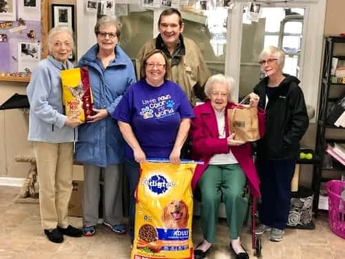 Morning Pointe Residents Donate Pet Food to Local Animal Shelter