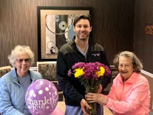 Morning Pointe Gives Back to Local Dentist