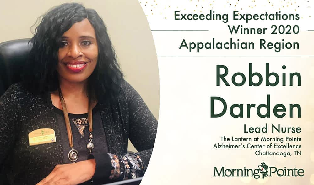 Morning Pointe Senior Living Awards Chattanooga Lead Nurse Robbin Darden With Regional Exceeding Expectation Award