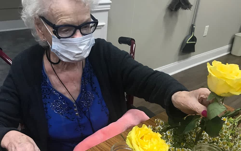 Wild Root Florist Donates Flowers to Morning Pointe