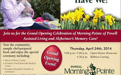 Grand Opening Celebration Morning Pointe of Powell April 24th 4:30 p.m.