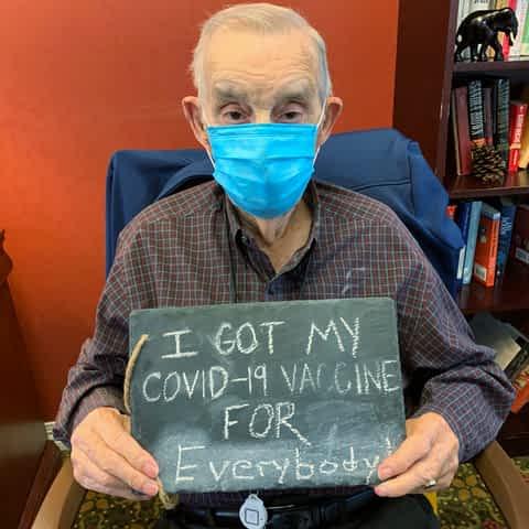 Morning Pointe D-Day Veteran Shows Heroism In Taking COVID-19 Vaccine