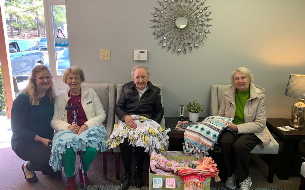 Morning Pointe Donates Handmade Baby Blankets