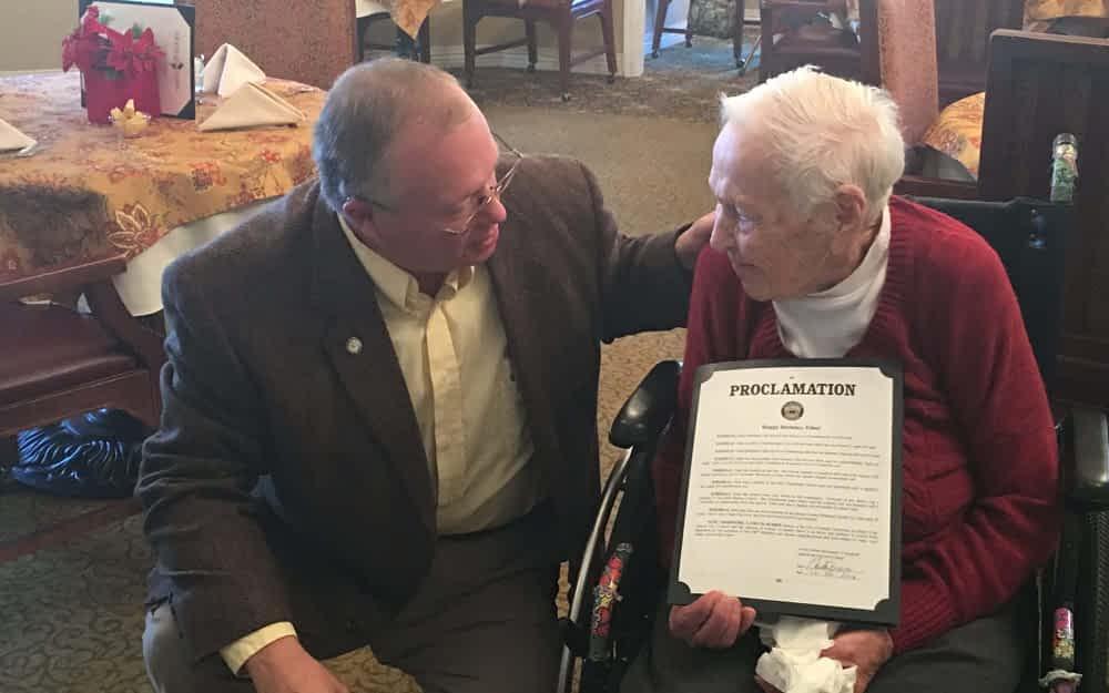 Centenarian Celebrates Christmas Birthday at Morning Pointe