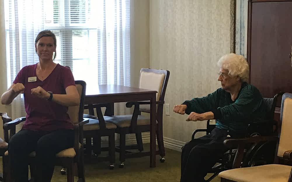 Morning Pointe Hosts Univ. of Tennessee Arthritis Exercise Class