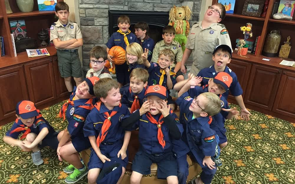 Cubs Scouts Call Bingo at Morning Pointe