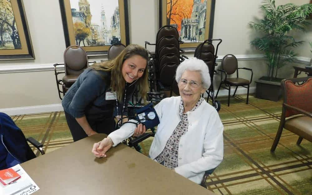Morning Pointe, Caretenders Take Blood Pressure to Heart at Clinic