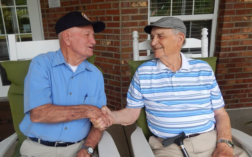 WWII Vets Meet at Morning Pointe