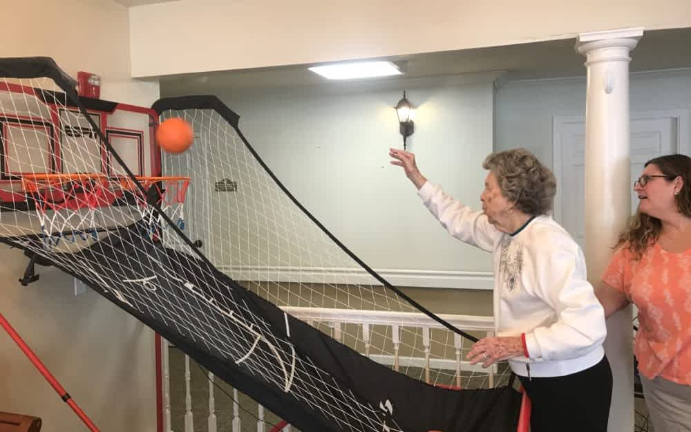 Morning Pointe's New Basketball Goal Makes Physical Therapy Fun