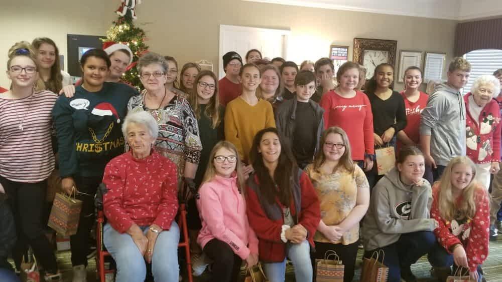 Calhoun Elementary FCA Spreads Christmas Cheer at Morning Pointe