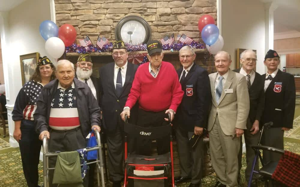 Morning Pointe Honors Veterans with Luncheon