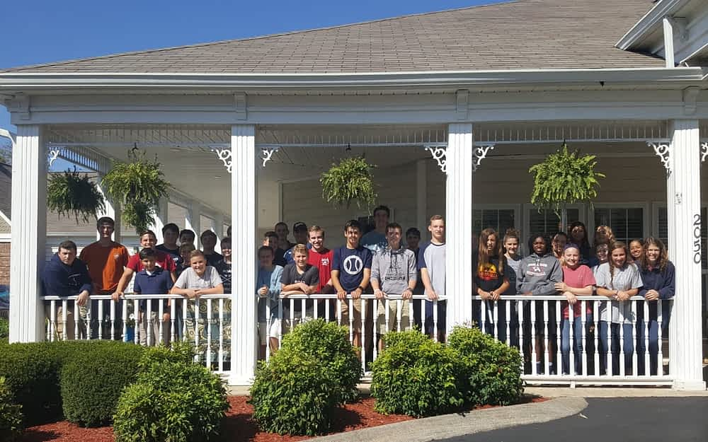 Columbia Academy Brings Care Packages to Morning Pointe Seniors