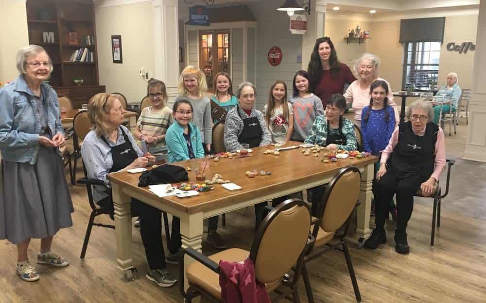 "Local Girl Scout Troop Partners with Morning Pointe to ""Rock Franklin"""