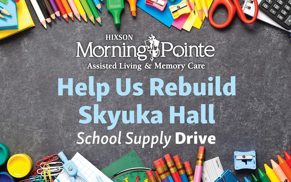 "Morning Pointe Hosts ""School Supply Drive for Skyuka Hall"""