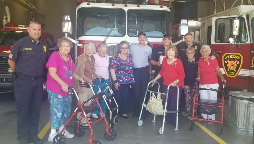 Morning Pointe Residents Deliver Homemade Treats to Local Fire and Police Departments