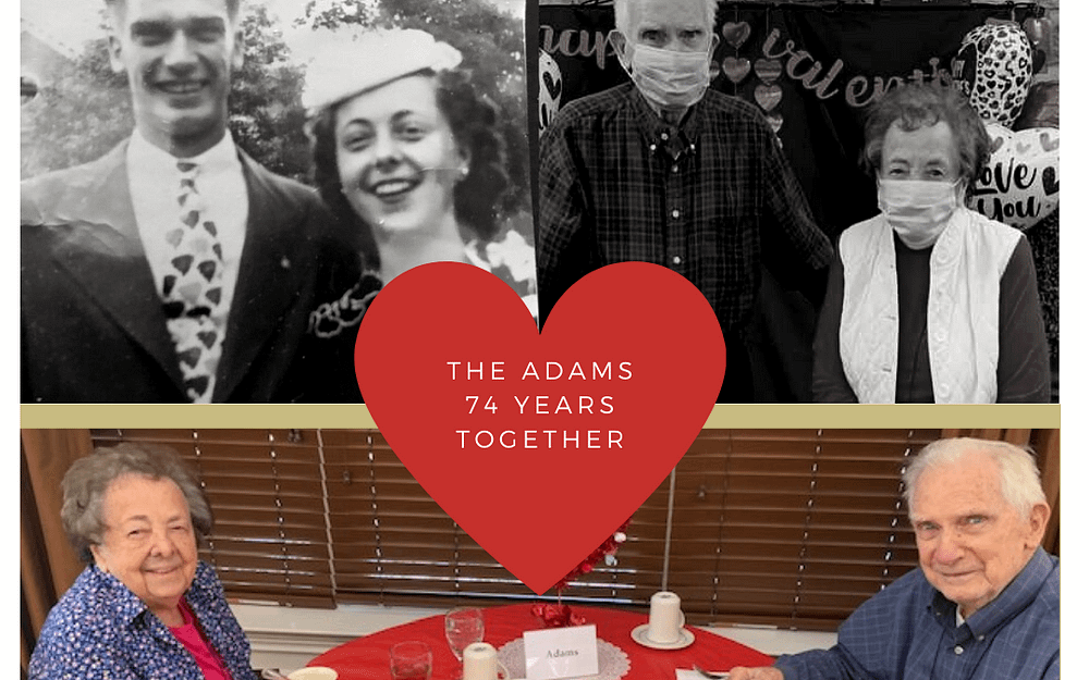 Morning Pointe of Danville Couple Married 74 Years Celebrates Valentine's Day Together
