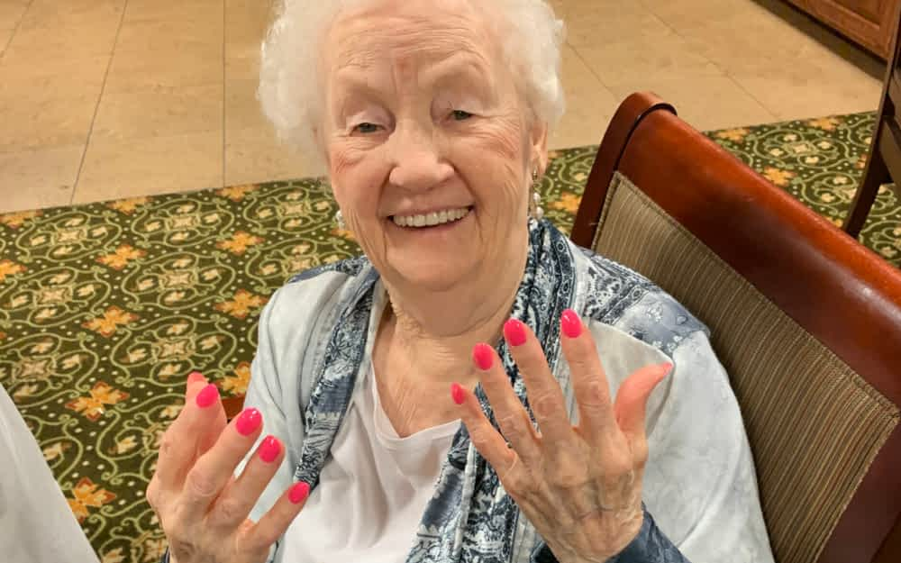Chattanooga State Partnership Brings Color to Morning Pointe Residents' Lives (and Nails)