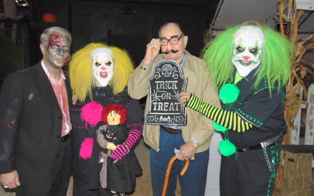 The Haunted Barn cast members met the residents at The Lantern at Collegedale.