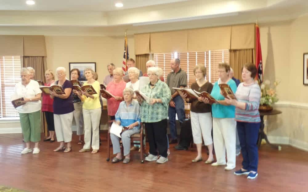 Morning Pointe Seniors Sing Along with Silvertones Choir