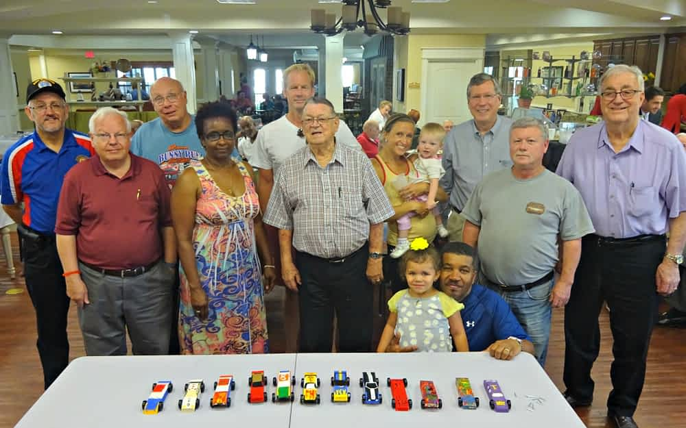 Morning Pointe Residents Painted Derby Cars for Dads