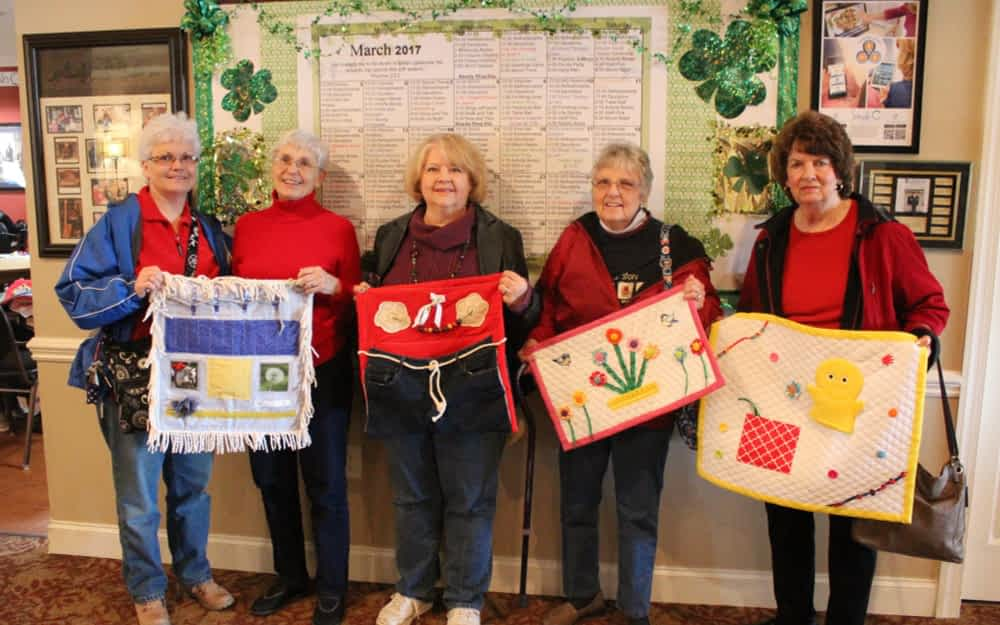 """Church Donates """"Busy Blankets"""" to Residents at Morning Pointe"""