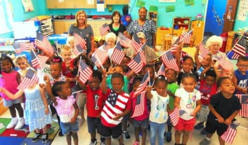 Morning Pointe Throws Patriotic Party for Chambliss Center