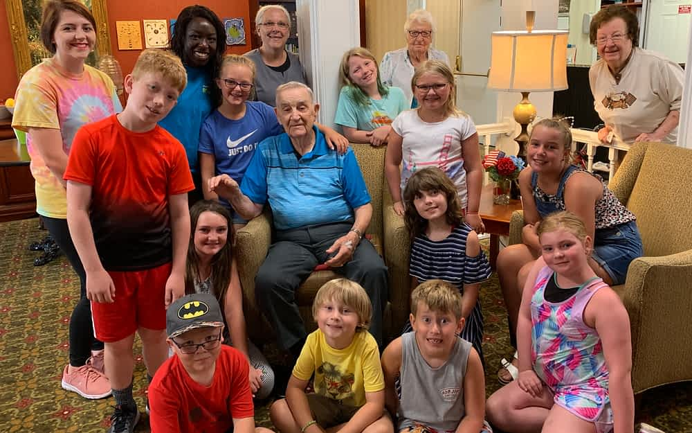 Parks Department Campers Visit Morning Pointe