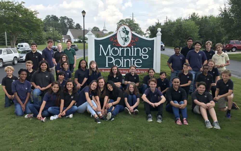 Coble Elementary Students Sing at Morning Pointe
