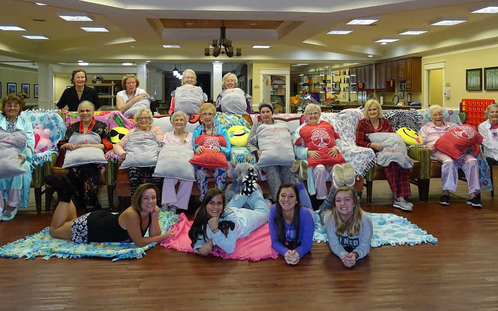 Morning Point Throws Pajama Party for Residents